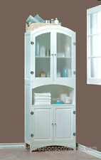 NEW LOVELY WHITE WOOD LINEN CABINET-BATHROOM STORAGE & DECOR FURNITURE