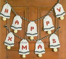 VINTAGE KNITTING PATTERN FOR CHRISTMAS BELLS DECORATIONS - EASY - pattern only