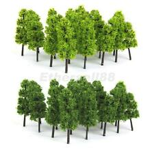 20 Dark/Light Green Tree Model Train Railway Forest Wargame Scenery Layout Z