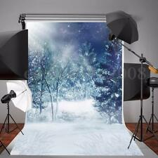 5x7FT Photography Backdrop Photo Studio Prop Scenic Background Winter Snow Vinyl
