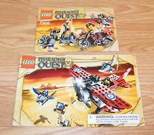 LEGO Instruction Manuals (7306 & 7307) for Pharaoh's Quest Flying Mummy Attack