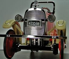 A Spring Coil Suspension Ford Pedal Car 1920s Red T Sport Vintage Midget Model