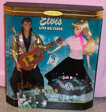 Barbie doll Loves Elvis Giftset NRFB #17450 Mattel 1996   Here's a very special