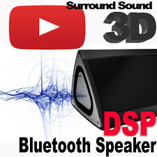 Bluetooth Speaker Box BRUSHED ALLUMINIO DSP 3d surround + SUBWOOFER SUPER BASS mp3