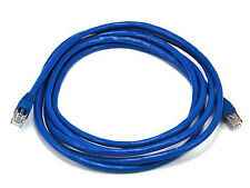 Monoprice 10FT 24AWG Cat6A 500MHz STP Bare Copper Ethernet Network Cable - Blue