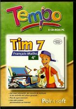 TEMPO - TIM 7 FRANCAIS-MATHS 4E JEU PC 2 CD-ROM NEUF/CELLO POUR WINDOWS 95/98/ME
