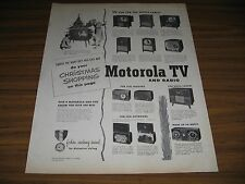 1950 Print Ad Motorola TV Televisions & Radio Phonographs Christmas Tree