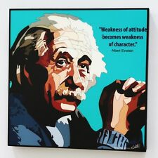Albert Einstein canvas quotes wall decals photo painting framed pop art poster