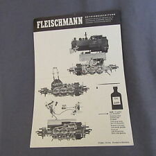 "701B 2 Feuilles ""Ancien Catalogue"" Fleischmann Contact universel 6402"