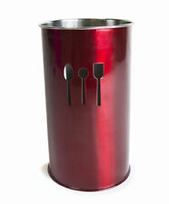 New Red Stainless Steel Kitchen Utensils Cutlery Pot Storage Jar Holder