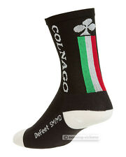 COLNAGO by DEFEET AIREATOR TALL CYCLING SOCKS : BLACK 14 CM CUFF L/XL
