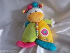 Doudou girafe, vache, multicolore, Babysun