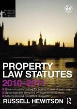 Property Law Statutes 2010-2011 (Routledge Student Statutes) Hewitson, Russell V
