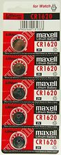 5 X PILAS MAXELL BOTON BATERIA CR1620 3V LITHIUM LITIO BATTERY