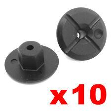 10 Plástico unthreaded Nylon nuts 4mm agujero 24 mm de ancho y gran Collar Mercedes Bmw