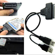 Hard Disk Drive SATA 7+15 Pin 22 to USB 2.0 Adapter Cable For 2.5 HDD Laptop L8