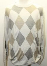Classic Dockers Men Sweaters Brown Argyle XL  Crew Neck Layering Cold