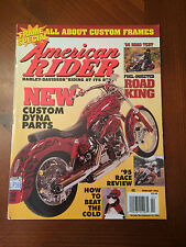 Vintage American Rider Magazine February 1996 95 Race Review Custom Dyna Parts !