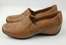 Mint in Box Women's Easy Street Premier Camel Brown Shoes Wedges 7.5 Wide W