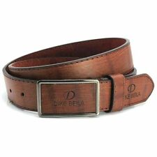 Men's Casual Waistband Leather Automatic Buckle Belt Waist Strap Belts Coffee