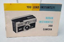 Kodak Instamatic 300 camera instruction manual