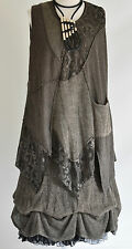 SARAH SANTOS  wool parchaute DRESS & tunic 2 pieces set COFFEE   SIZE L/XL