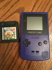 NINTENDO Game Boy Color w/ Game and Watch Gallery 3 Game Purple WORKS!!