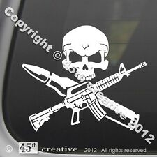 AR15 Crossbones Decal m4 m16 .223 5.56 nato Military surplus rifle sticker ar-15