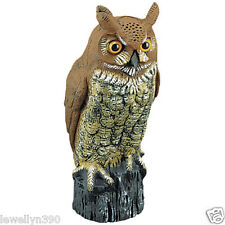 Great Horned Owl Decoy Bird & Rodent Repellent NEW
