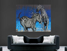 ZEBRA WALL GRAFFITI STREET BANKSY  WALL POSTER ART PICTURE PRINT LARGE HUGE
