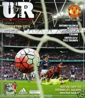 MANCHESTER UNITED V LEICESTER CITY (01/05/2016) *PREMIERSHIP FOOTBALL PROGRAMME*