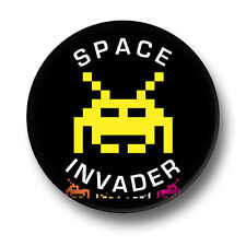 Space Invader 1 Inch / 25mm Pin Button Badge Retro Video Games Arcade Computer
