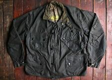 "Vtg 60s barbour international costume ""étiquette jaune"" ciré veste moto 44"