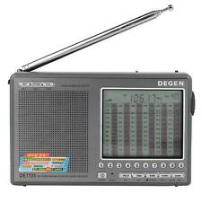 DEGEN DE1103 DSP FM Mw LW SW SSB Ricevitore Digitale World & antenna esterna IT