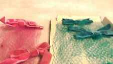 VINTAGE HAT NETTING,TURQUOISE AND PINK NEW WITH BOX