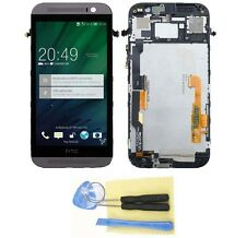 LCD display Touch Screen Digitizer Assembly for HTC ONE M8 With Frame Grey +Tool