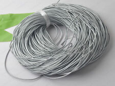 2yards 1.5MM silver color Genuine round Leather cord Cowhide diy findings