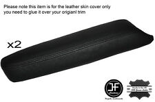 BLACK STITCH 2X FRONT DOOR ARMREST LEATHER SKIN COVERS FITS NISSAN MURANO 09-14