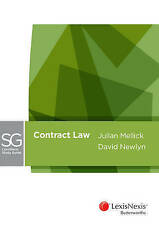 Lexisnexis Study Guide: Contract Law by D Newlyn, J Mellick (Paperback, 2015)
