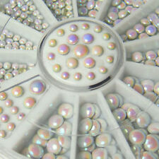 500Pc Cool Mixed White Gilter Rivet Nail Art Decor Rhinestone DIY Accessories
