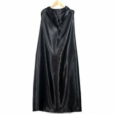 Black Halloween Costume Theater Prop Death Hoody Cloak Devil Long Tippet Cape F4