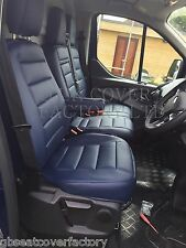 NISSAN PRIMASTAR VAN SEAT COVERS ALL BLUE QUILTED PVC LEATHER 120BU