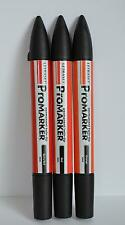 3 Pk Red, Berry Red, Orange Letraset Promarker Scrapbook Image Stamp Marker Pen