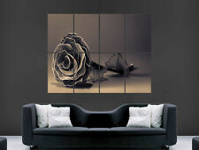 BLACK ROSE GOTHIC ART WALL LARGE IMAGE GIANT POSTER ""