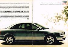 PUBLICITE  1995   AUDI A4    2.8 V6 174 cv   ( 2 pages)