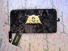 NEW Juicy Couture Wallet Wild Things Velour Leather Snake Pattern