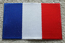 FRANCE FLAG PATCH Embroidered Badge Iron Sew on 6cm x 9cm Français French NEW