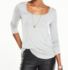 BNWT Ladies Grey Basic Long Sleeve Top V by VERY - sz 10