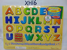 MELISSA & DOUG ALPHABET SOUND PUZZLE REAL SOUNDS LEARNING TOYS NEW