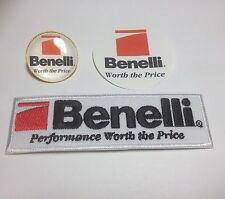 Benelli Guns Shooting: Gold Plated Badge, Benelli Patch  & Benelli Sticker